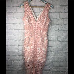 Bardot Morgan Floral Dress Crochet Sleveless